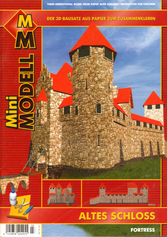 L03 - Altes Schloss - Mini-Modell aus/from Letland