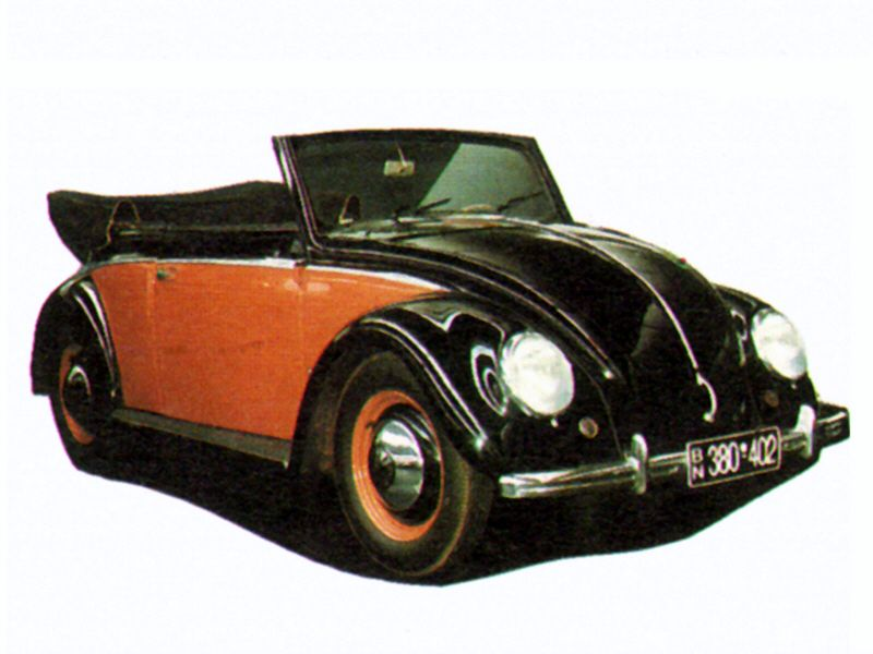 TBS 602 - VW Käfer 1200 Cabrio, 1950  1:120